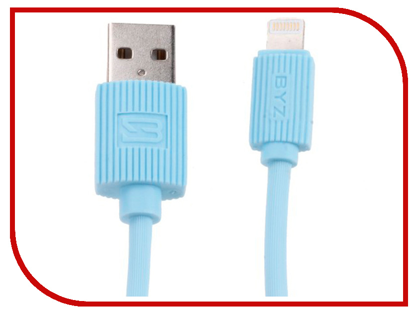 Аксессуар BYZ BL-668 USB - Lightning Light Blue аксессуар byz bc 001 usb lightning grey