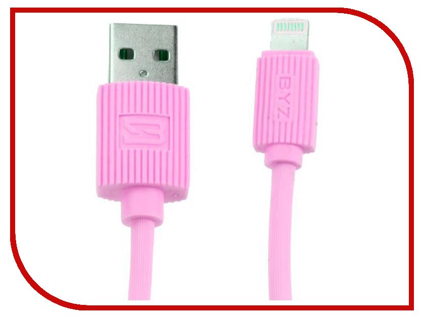 Аксессуар BYZ BL-668 USB - Lightning Pink аксессуар byz bl 629 usb microusb white