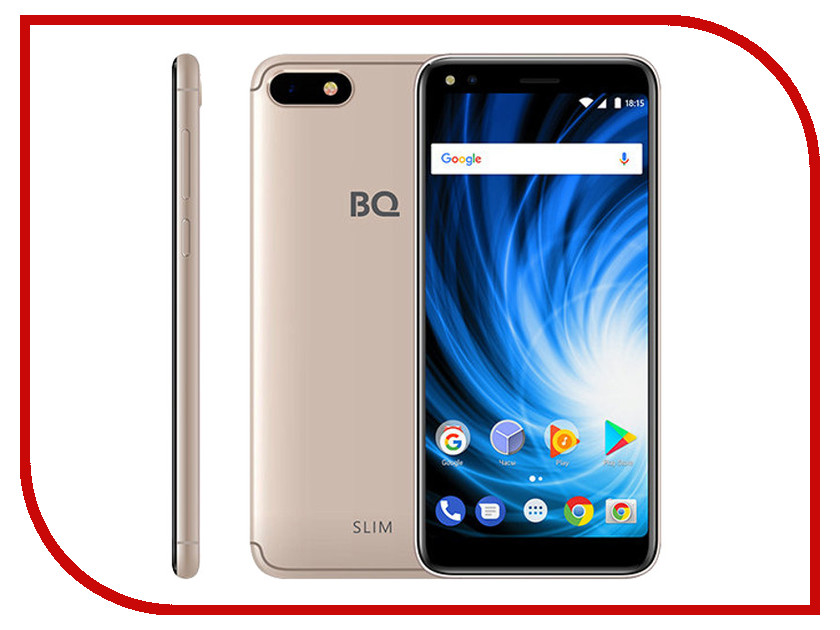 Сотовый телефон BQ 5701L Slim Gold сотовый телефон senseit t100 black