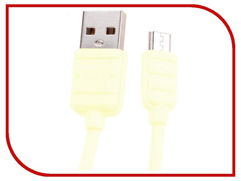 купить Аксессуар BYZ BL-671 USB - MicroUSB Yellow по цене 437 рублей