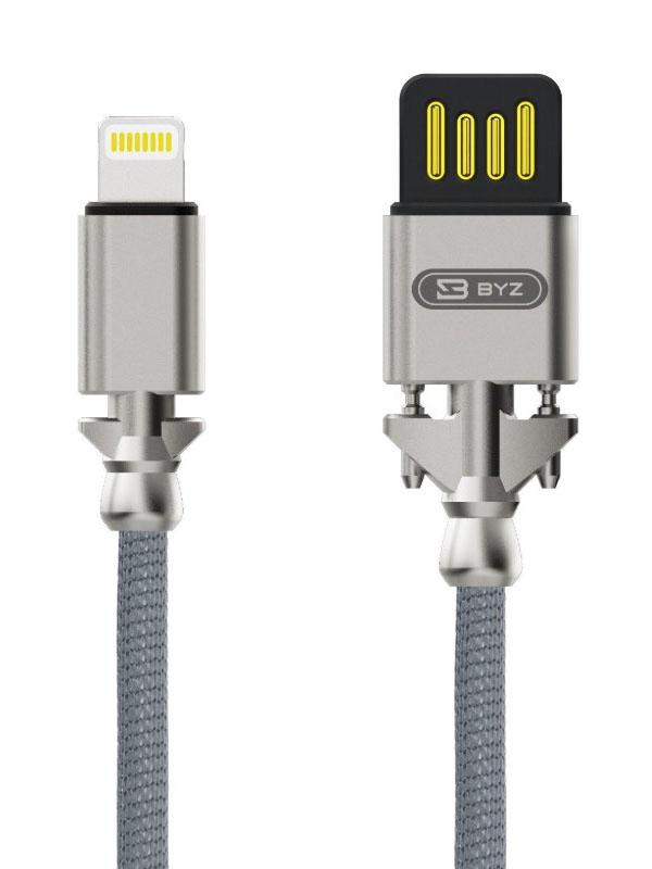 Аксессуар BYZ BL-698 USB - Lightning Silver byz sm 558 black