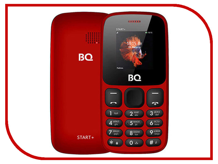 Сотовый телефон BQ 1414 Start+ Red сотовый телефон senseit t100 black