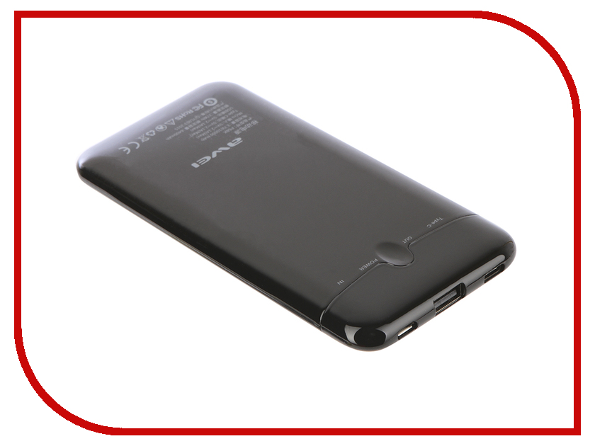 Аккумулятор Awei P68K 10000mAh Black 88245 аккумулятор