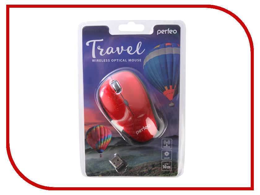 Мышь Perfeo Travel Dark Red PF-36-WOP-DRD PF_A4084 tor cd 300 a 30 м