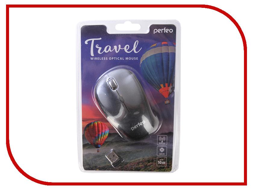 Мышь Perfeo Travel Dark Grey PF-36-WOP-DGR PF_A4082 мышь perfeo usb black orange pf 353 wop or