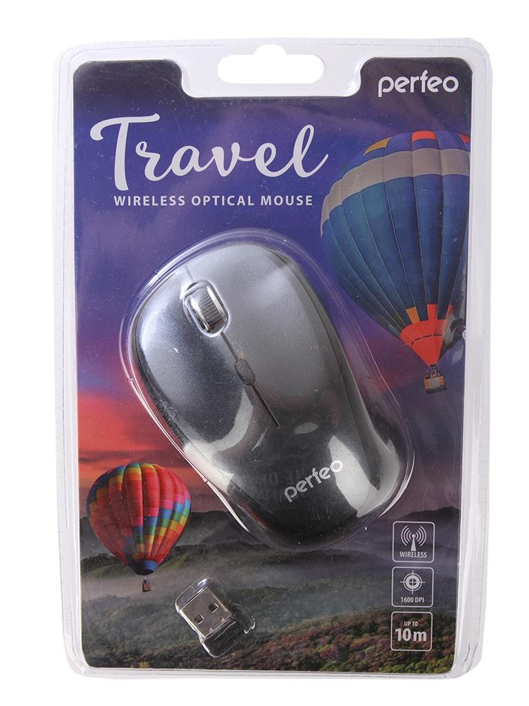 Мышь Perfeo Travel Dark Grey PF-36-WOP-DGR PF_A4082 мышь беспроводная perfeo pf 353 wop or
