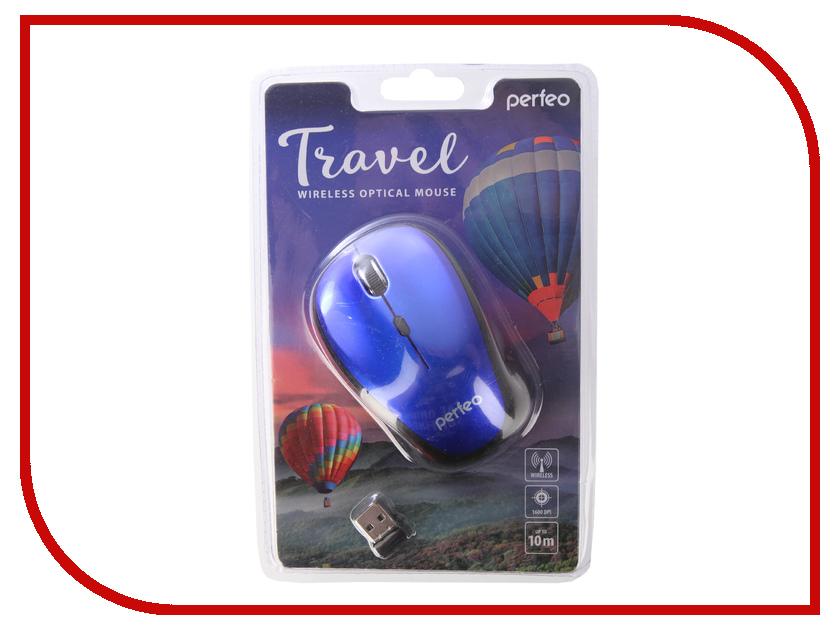 Мышь Perfeo Travel Dark Blue PF-36-WOP-DBL PF_A4083 мышь perfeo usb black orange pf 353 wop or