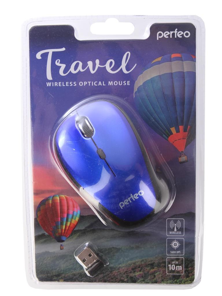 Мышь Perfeo Travel Dark Blue PF-36-WOP-DBL PF_A4083 мышь беспроводная perfeo pf 353 wop or