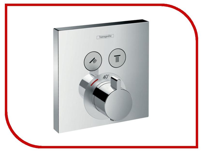 Внешняя часть термостата Hansgrohe Select Chrome 15763000 термостат для ванны hansgrohe showerselect встроенный с переключателем 15763000
