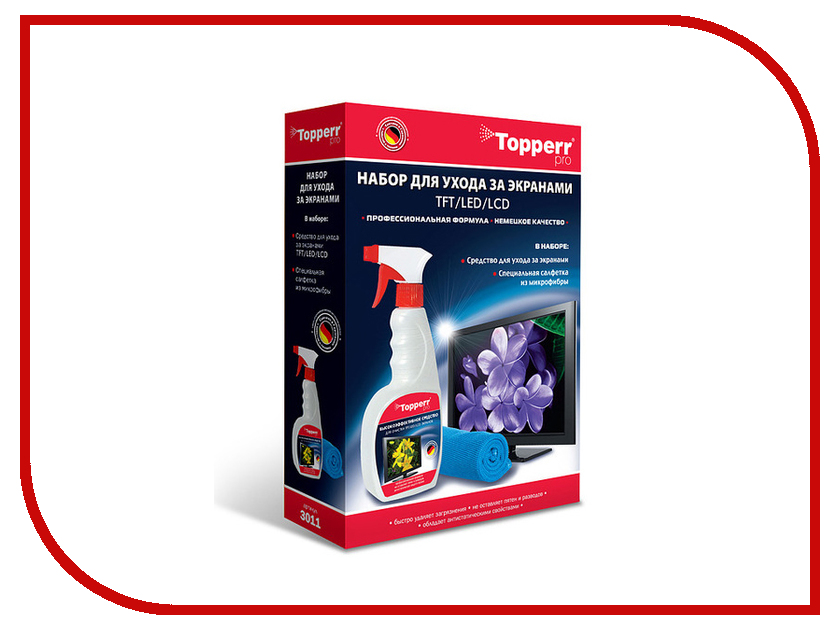 Аксессуар Topperr Набор для ухода за ЖК - телевизорами LCD- мониторами 3011 цена