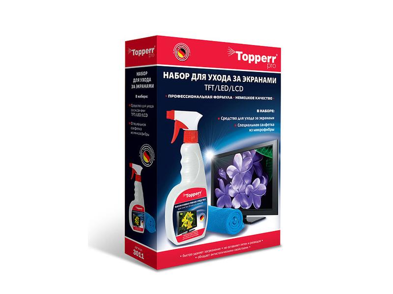Набор Topperr 3011 для ухода за ЖК - телевизорами LCD- мониторами набор topperr для ухода за свч 2 предмета