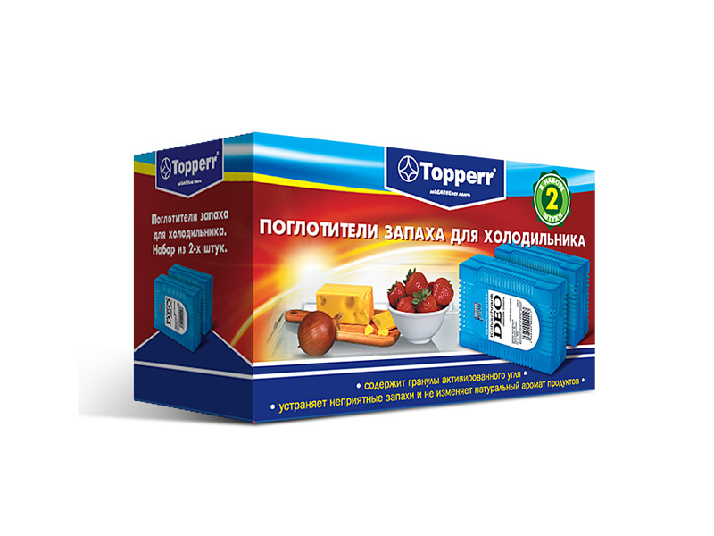 Аксессуар Поглотитель запаха для холодильников Topperr 3105