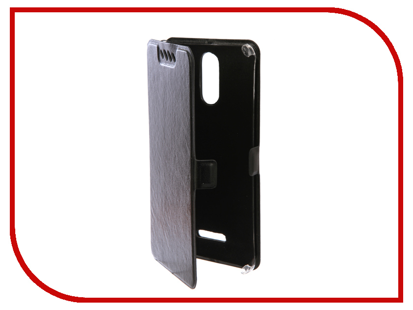 Аксессуар Чехол для Senseit T300 Экокожа Black смартфон senseit a200