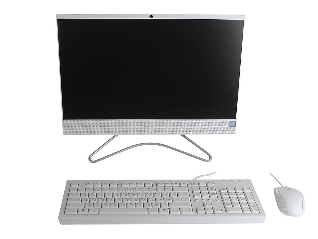 Моноблок HP 22-c0030ur Snow White 4GX83EA (Intel Core i5-8250U 1.6 GHz/8192Mb/1000Gb/DVD-RW/Intel HD Graphics/Wi-Fi/Bluetooth/21.5/1920x1080/DOS)