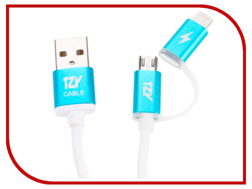 Аксессуар BYZ TZY TL-321 2в1 USB - Lightning/MicroUSB White byz tzy e 166 white