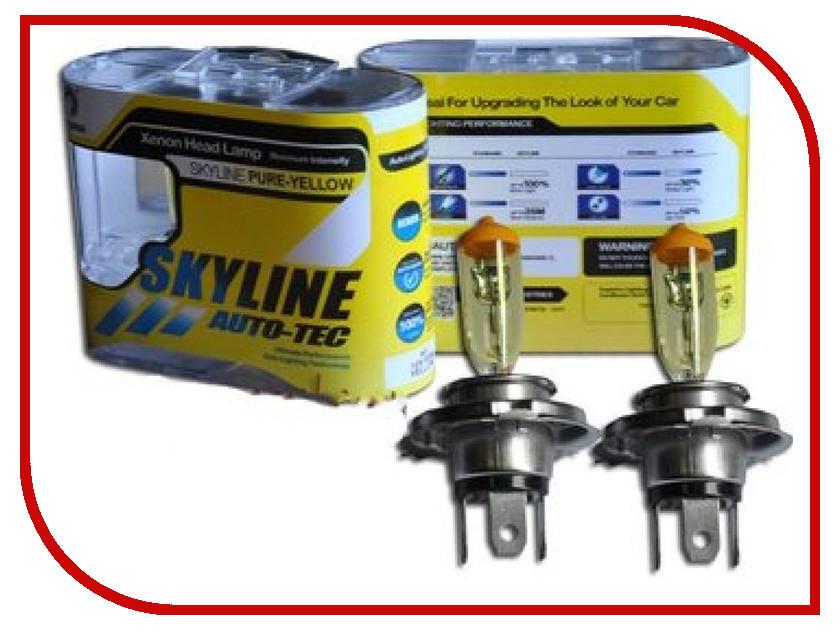 Лампа SkyLine H4 12V 60/55W P43T 2800K Solar Yellow (2 штуки)