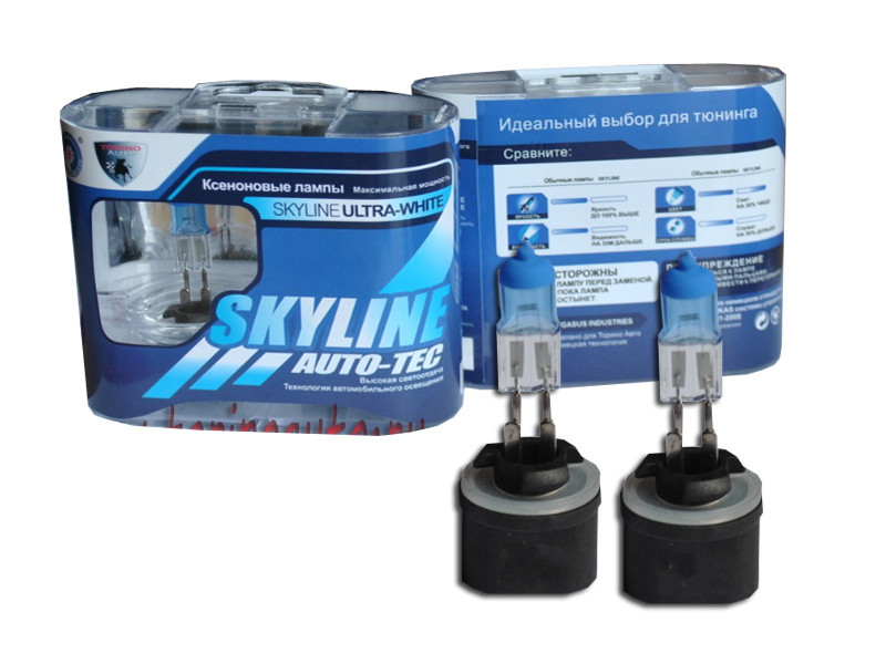 Лампа SkyLine H27-880 12V 27W 3800K Ultra White (2 штуки) лампа skyline h1 12v 55w 2800k solar yellow 2 штуки
