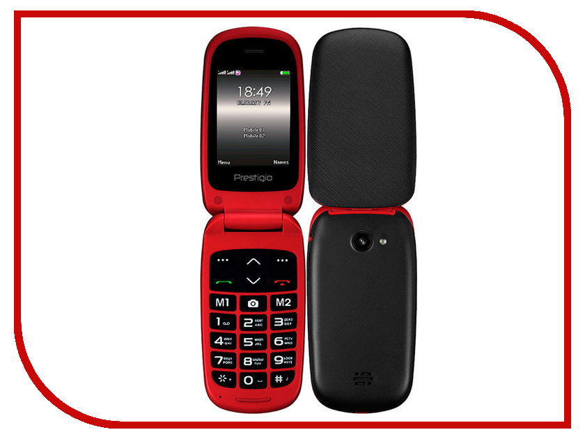 Сотовый телефон Prestigio Grace B1 Red сотовый телефон prestigio grace m5 5511 duo rose gold