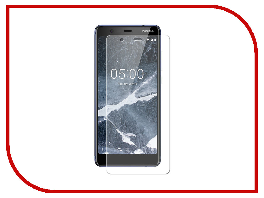 Аксессуар Защитное стекло для Nokia 5.1 2018 DF Full Screen Black nkColor-16 new black for nokia lumia 630 635 lcd display touch screen with digitizer assembly replacement parts free shipping with tools