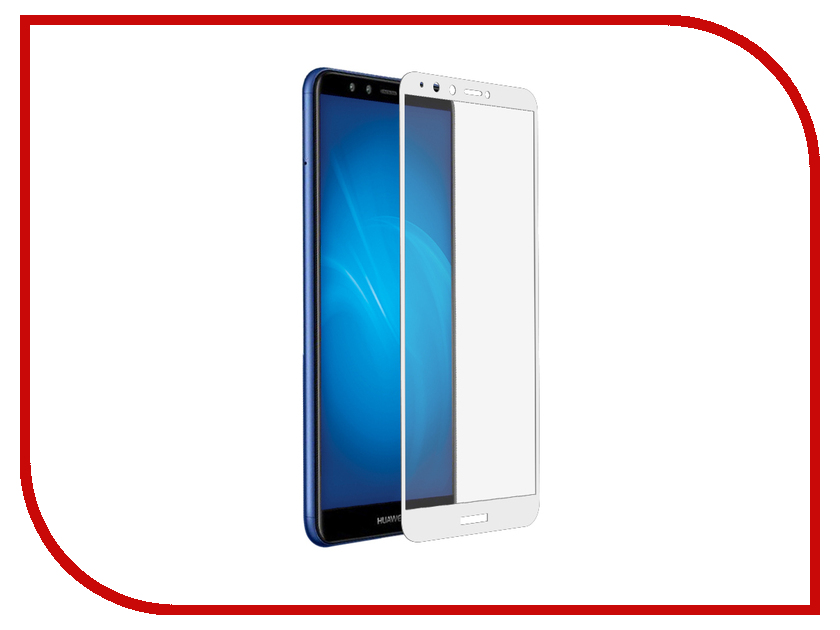 Аксессуар Защитное стекло для Huawei Y9 2018 DF Full Screen 3D White hwColor-62 аксессуар защитное стекло для huawei honor y9 2018 luxcase 3d full screen black frame 77921