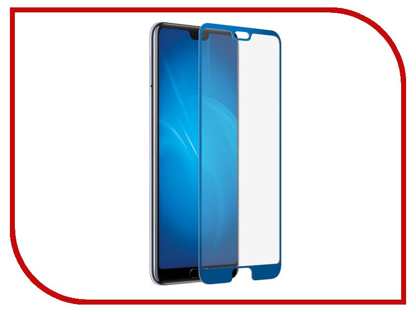 Аксессуар Защитное стекло для Huawei P20 DF Full Screen 3D Blue hwColor-66 аксессуар защитное стекло для huawei p20 full screen svekla blue zs svhwp20 fsblue