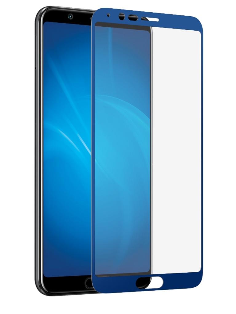 Защитное стекло DF для Honor View 10 Full Screen 3D Blue hwColor-45