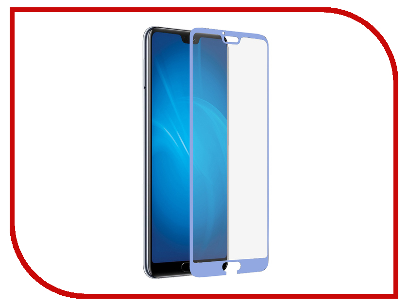 Аксессуар Защитное стекло для Huawei Honor 10 / 10 Premium DF Full Screen 3D Blue hwColor-59 аксессуар защитное стекло для huawei honor y9 2018 luxcase 3d full screen black frame 77921