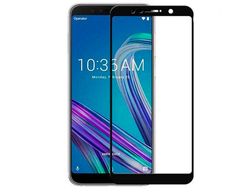 Аксессуар Защитное стекло DF для ASUS ZenFone Max Pro M1 ZB602KL/ZB601KL Full Screen Black aColor-18