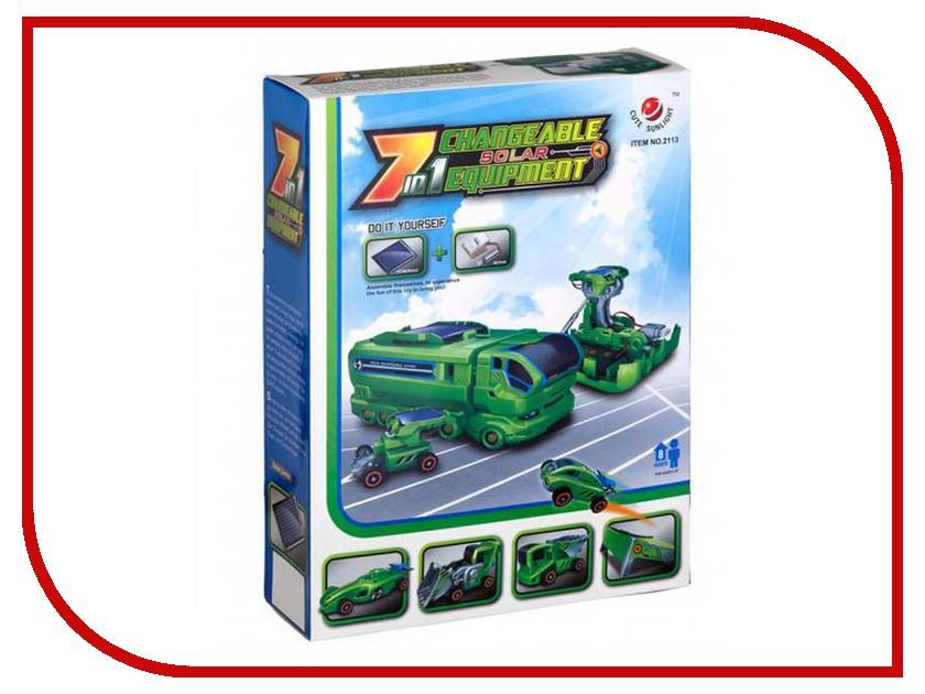 Конструктор Cute Sunlight 7 in 1CS 2113 cute sunlight 2125 t4 4 in 1 solar dinosaur robot diy kit