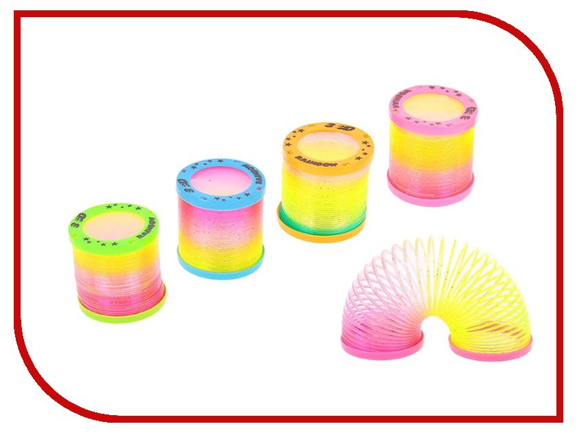 Игрушка СмеХторг Пружинка-радуга Светящаяся sima land антистрессовая игрушка пружинка радуга мышка