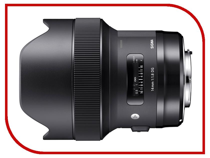 Объектив Sigma AF 14mm f/1.8 DG HSM Art Sony E объектив sigma af 50mm f 1 4 dg hsm art sony e