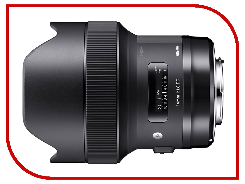 Объектив Sigma AF 14mm f/1.8 DG HSM Art Sony E объектив sigma 20mm f 1 4 dg hsm art