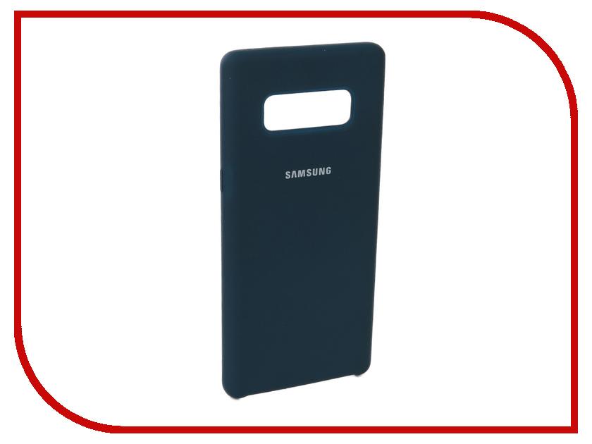 Аксессуар Чехол для Samsung Galaxy Note 8 Innovation Silicone Blue 10706
