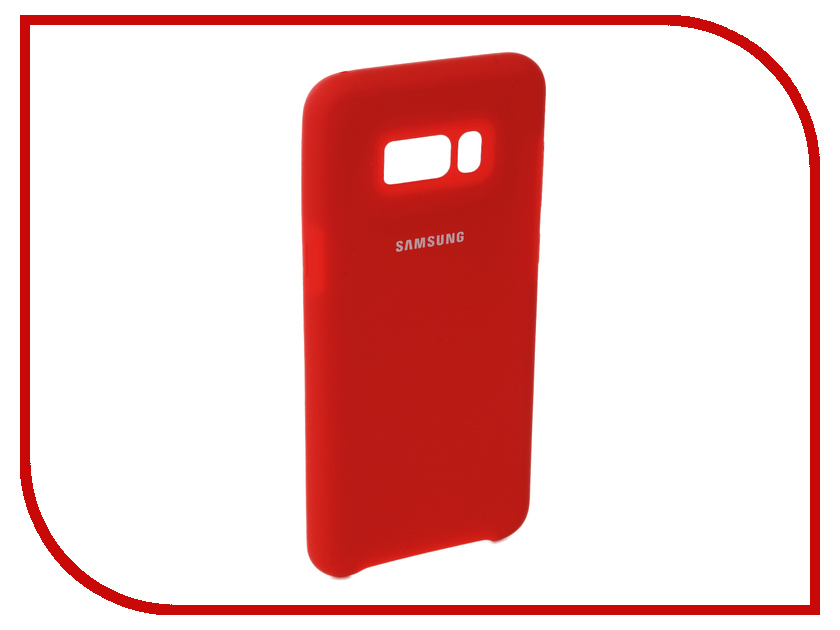 Аксессуар Чехол для Samsung Galaxy S8 Plus Innovation Silicone Red 10696 аксессуар чехол для samsung galaxy s9 plus innovation silicone red 11915