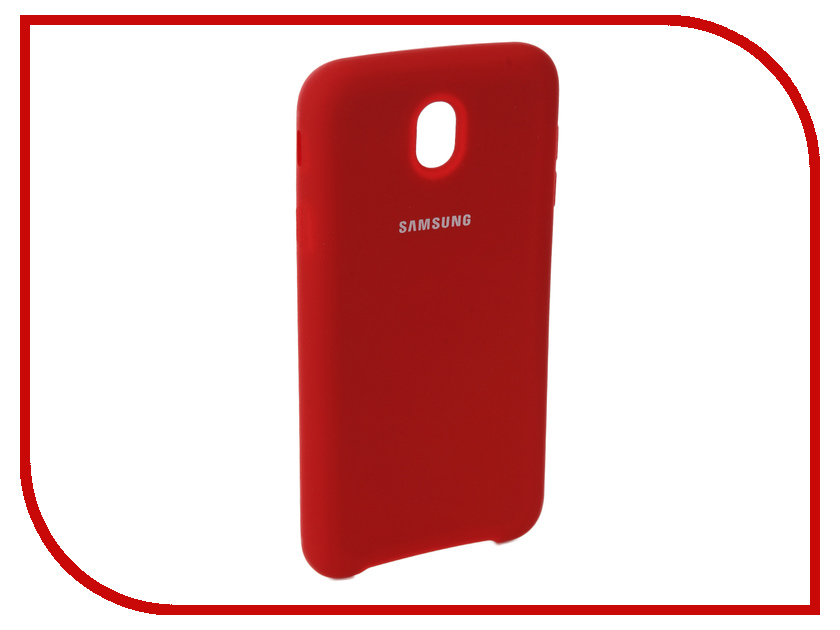 Аксессуар Чехол для Samsung Galaxy J7 2017 J730F Innovation Silicone Red 10679 аксессуар чехол для samsung galaxy j7 2017 j730f innovation silicone black 10682