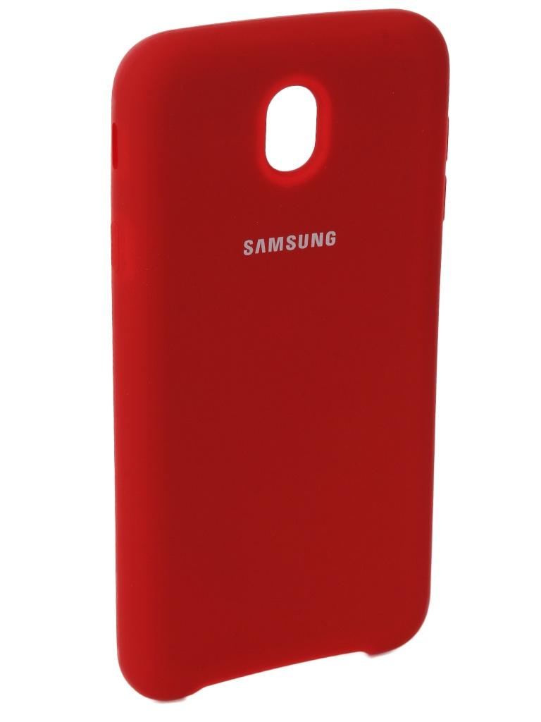 Аксессуар Чехол Innovation для Samsung Galaxy J7 2017 J730F Silicone Red 10679 аксессуар чехол zibelino для samsung sm j730f galaxy j7 2017 cover back elegant grey zcbe sam j730f gry