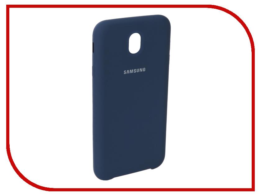 Аксессуар Чехол для Samsung Galaxy J7 2017 J730F Innovation Silicone Blue 10675 аксессуар чехол книга для samsung galaxy j7 2017 j730f innovation book silicone red 12155