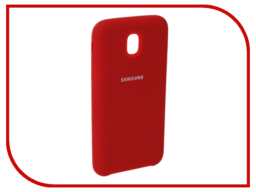Аксессуар Чехол для Samsung Galaxy J5 2017 J530F Innovation Silicone Red 10671 аксессуар чехол для samsung galaxy a5 2017 innovation silicone green 10645