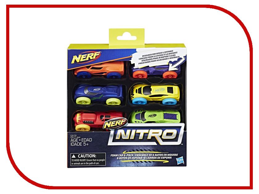 Игрушка Hasbro Nerf Nitro Машинки 6 шт C3171 hasbro nerf nitro c0774 нерф нитро машинки 3 шт