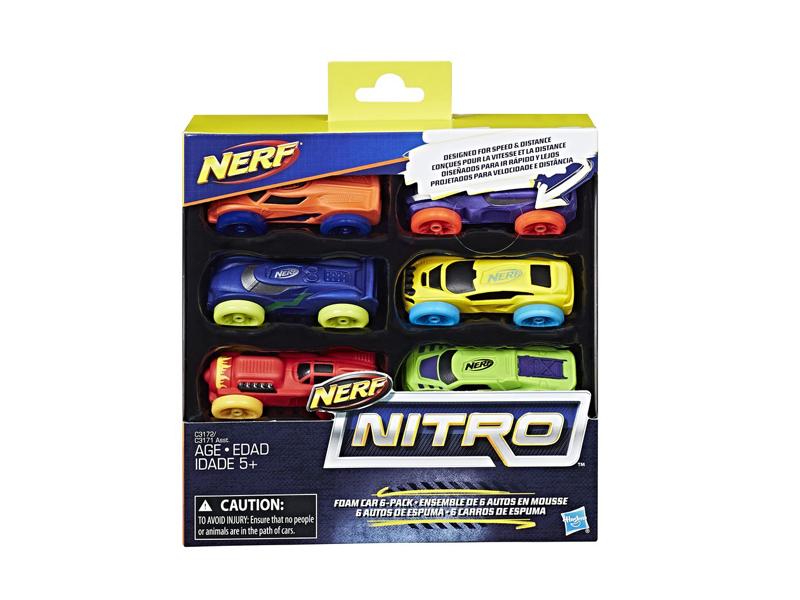 Игрушка Hasbro Nerf Nitro Машинки 6 шт C3171