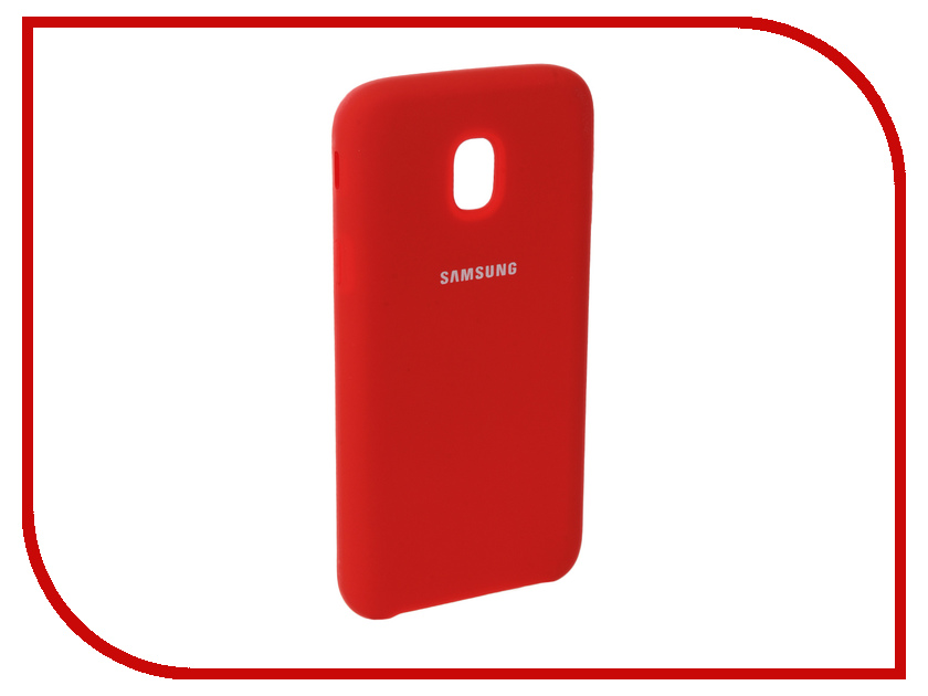 Аксессуар Чехол для Samsung Galaxy J3 2017 J330F Innovation Silicone Red 10663 аксессуар чехол для samsung galaxy j3 2017 j330f innovation book silicone red 12151
