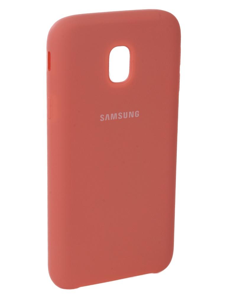 Аксессуар Чехол Innovation для Samsung Galaxy J3 2017 J330F Silicone Pink 10664 цена и фото