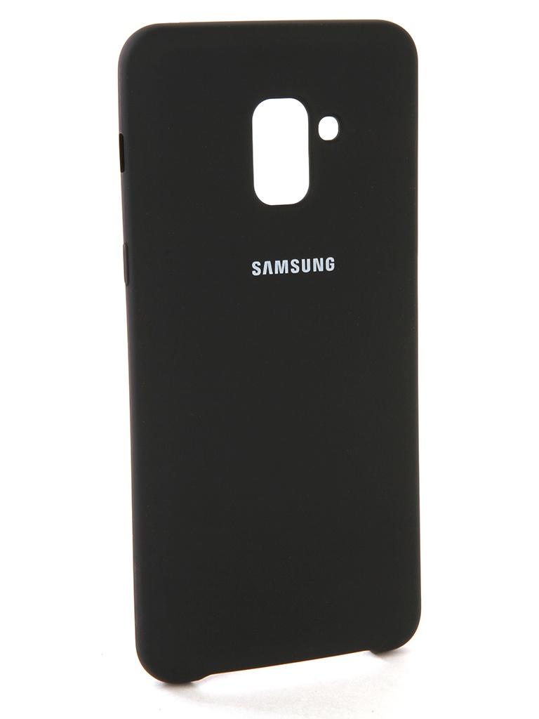 Аксессуар Чехол Innovation для Samsung Galaxy A8 Plus 2018 Silicone Black 11922 аксессуар чехол snoogy для samsung i9600 galaxy s5 creative silicone 0 3mm black