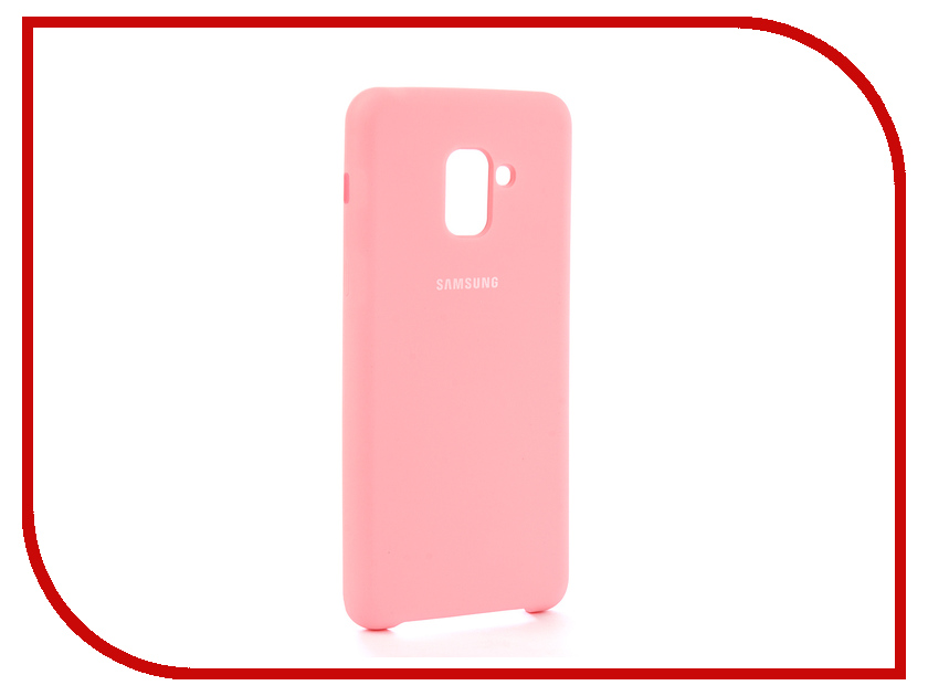 Аксессуар Чехол для Samsung Galaxy A8 Plus 2018 Innovation Silicone Pink 11926 аксессуар чехол для samsung galaxy a8 plus 2018 innovation book gold 11973