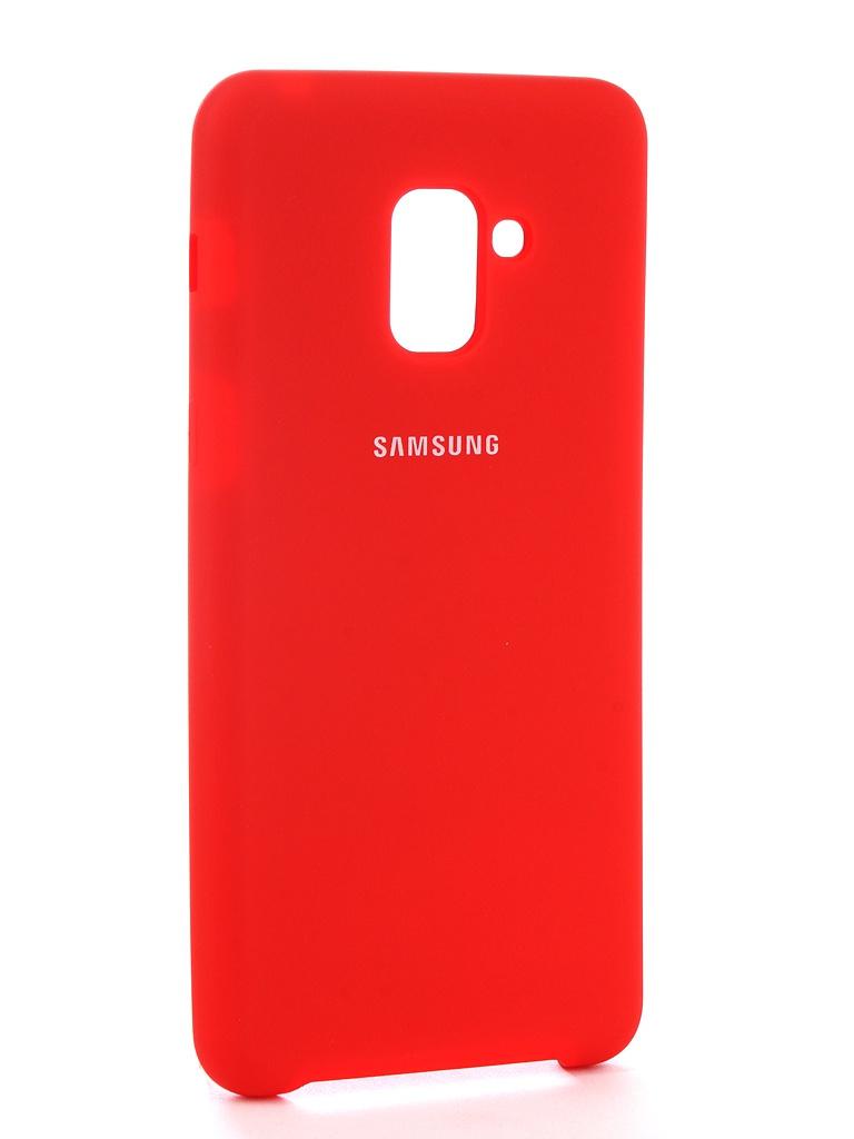 Аксессуар Чехол Innovation для Samsung Galaxy A8 Plus 2018 Silicone Red 11925