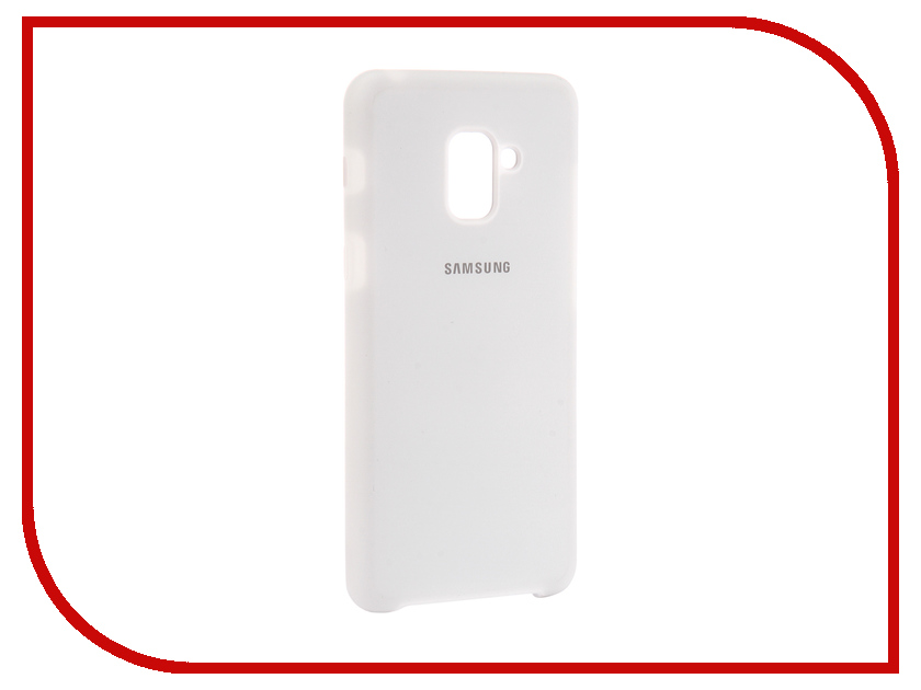 Аксессуар Чехол для Samsung Galaxy A8 Plus 2018 Innovation Silicone White 11923 protective silicone back case w stand for samsung galaxy note 3 translucent grey white