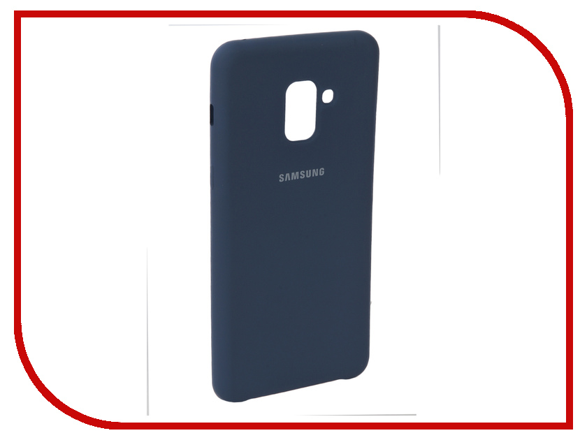 Аксессуар Чехол для Samsung Galaxy A8 2018 Innovation Silicone Blue 11919 аксессуар чехол для samsung galaxy a5 2017 innovation silicone yellow 10644