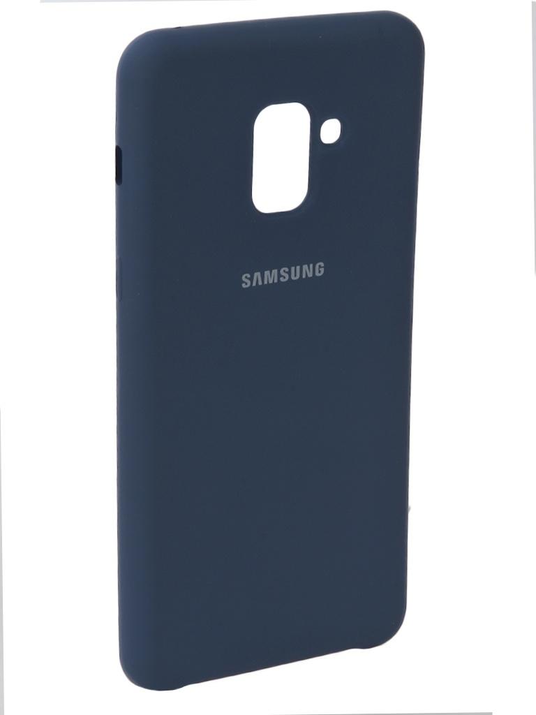 Аксессуар Чехол Innovation для Samsung Galaxy A8 2018 Silicone Blue 11919