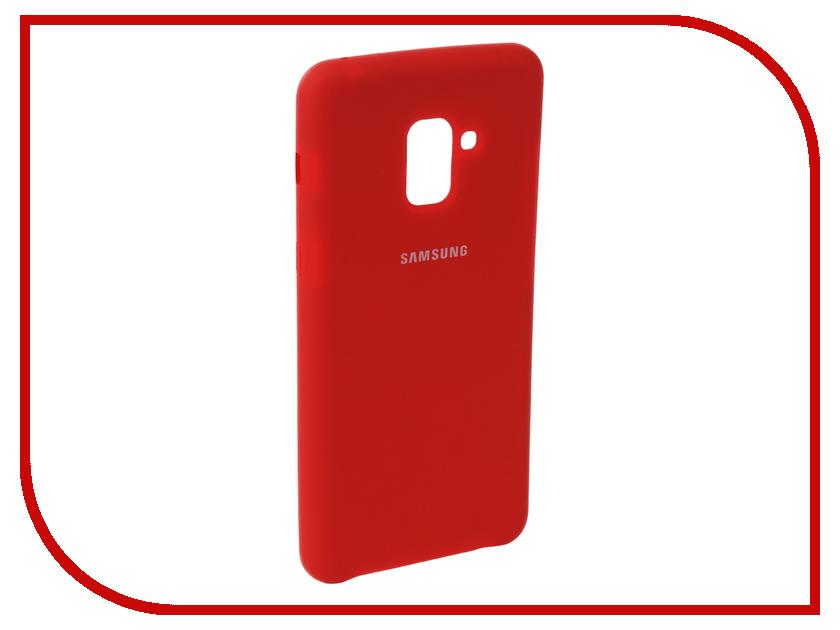 Аксессуар Чехол для Samsung Galaxy A8 2018 Innovation Silicone Red 11920 цена и фото