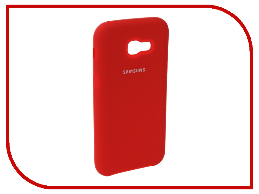 Аксессуар Чехол для Samsung Galaxy A5 2017 Innovation Silicone Red 10647 аксессуар чехол для samsung galaxy a5 2017 innovation book silicone red 12147